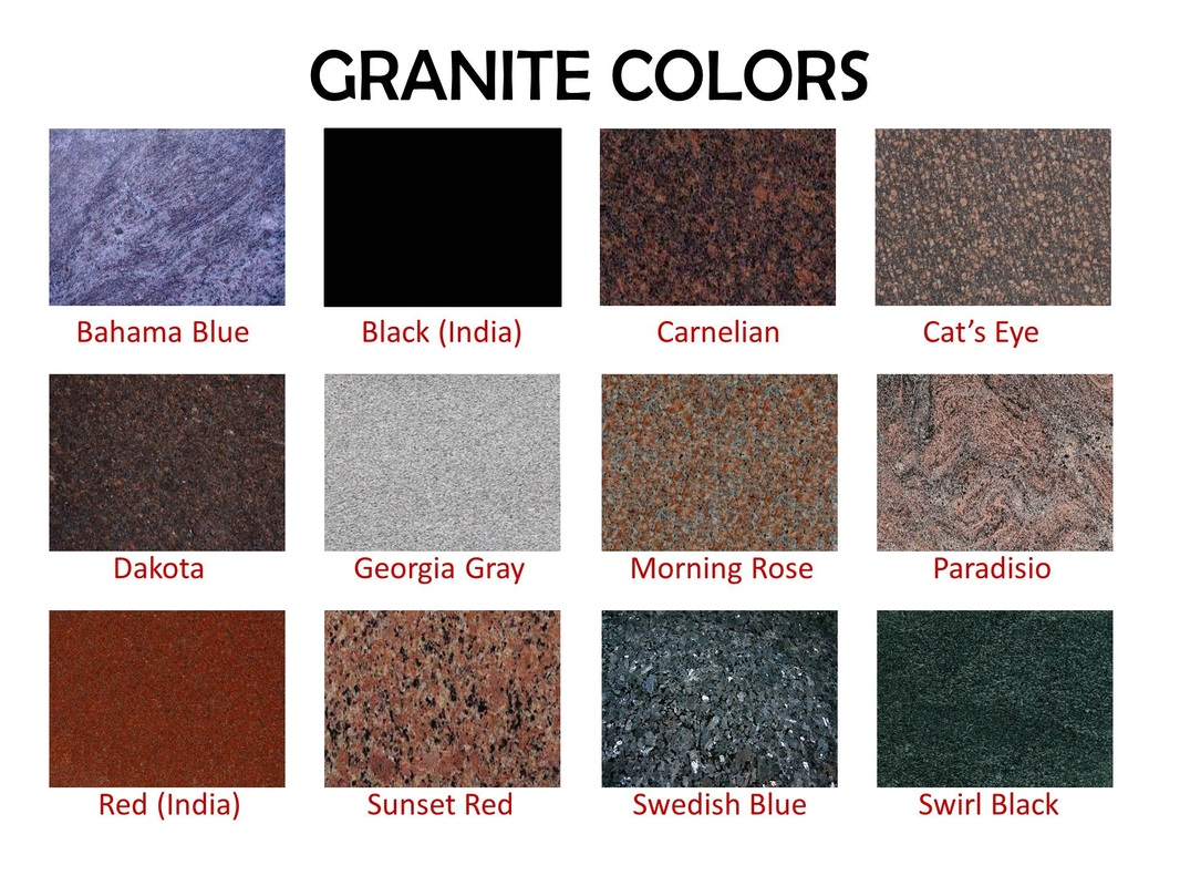 Granite Colors Citywide Monuments2382a S Dairy
